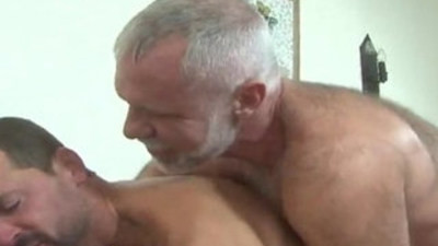 bears  daddy and son  riding cock